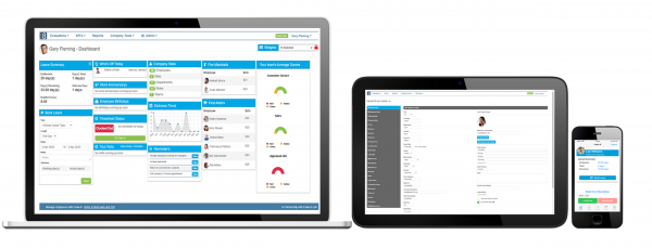 Human resources software screen